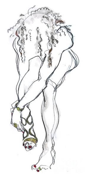 Pump Drawing - Cinderella - Nude Female by Carolyn Weltman