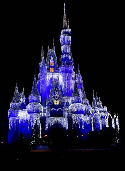 Disney World Photograph - Cinderella's Castle by Laurie Perry