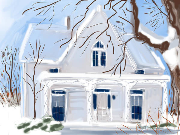Painting - Cindi's House by Jean Pacheco Ravinski