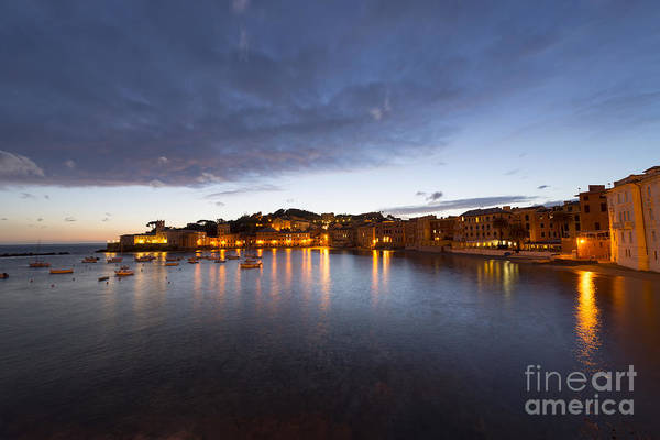 Sestri Levante Photograph - Cinque Terre In Blue Hour by Mats Silvan