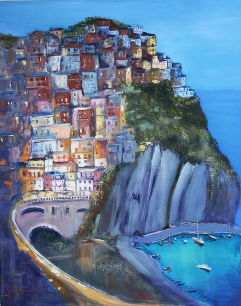 Painting - Cinque Terre by Kathy  Karas