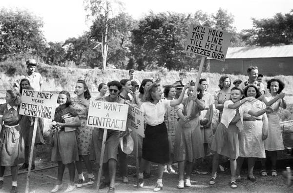 Photograph - Cio Picketers, 1941 by Granger