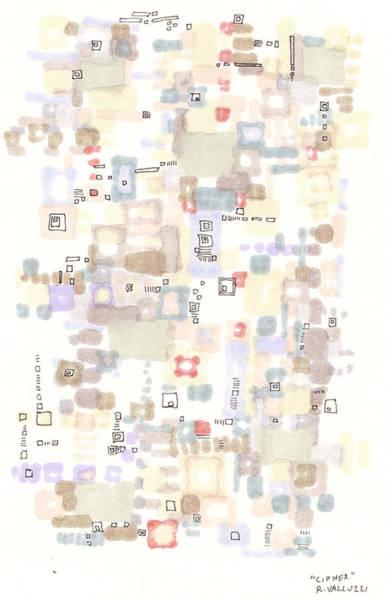 Drawing - Cipher by Regina Valluzzi