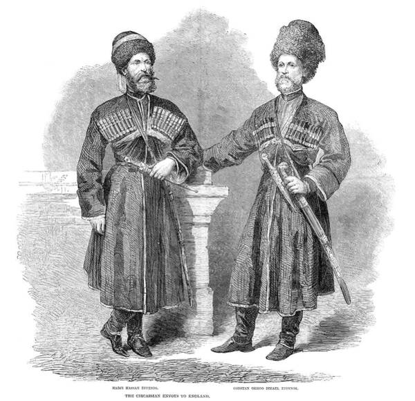 Wall Art - Painting - Circassian Envoys, 1862 by Granger