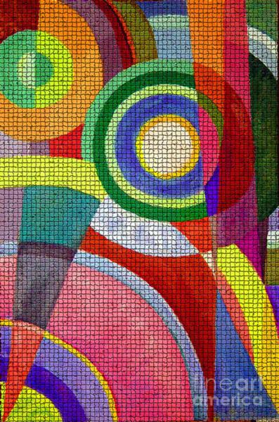 Painting - Circle Abstraction #2 by Karen Adams