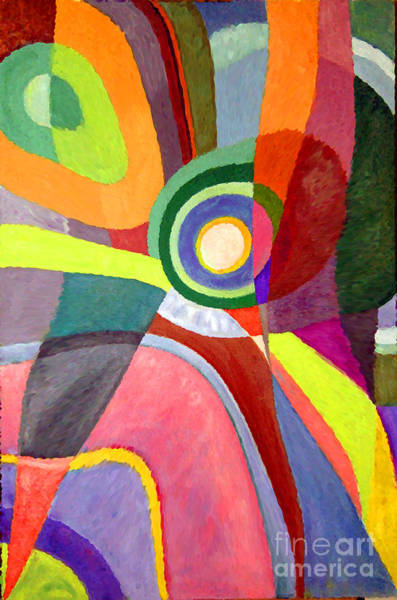 Painting - Circle Abstraction #3 by Karen Adams