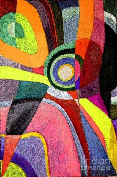 Painting - Circle Abstraction #5 by Karen Adams