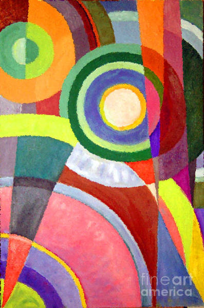 Painting - Circle Abstraction by Karen Adams