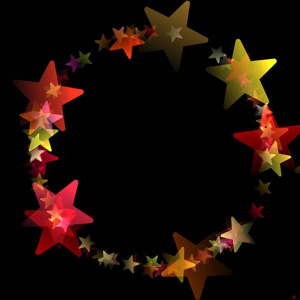 Orion Digital Art - Circle Of Stars by Daniel Hagerman
