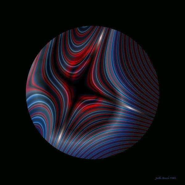 Digital Art - Circle On Black 3 by Judi Suni Hall