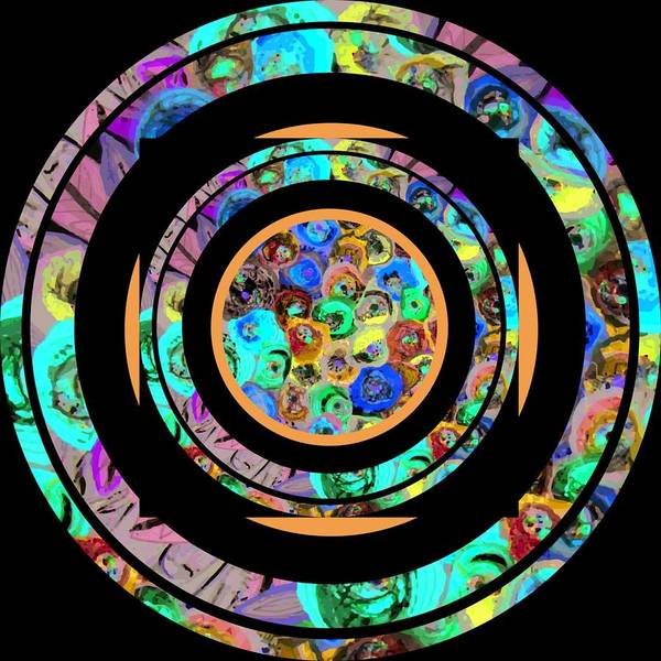 Wall Art - Digital Art - Circle1 by Karen Elzinga