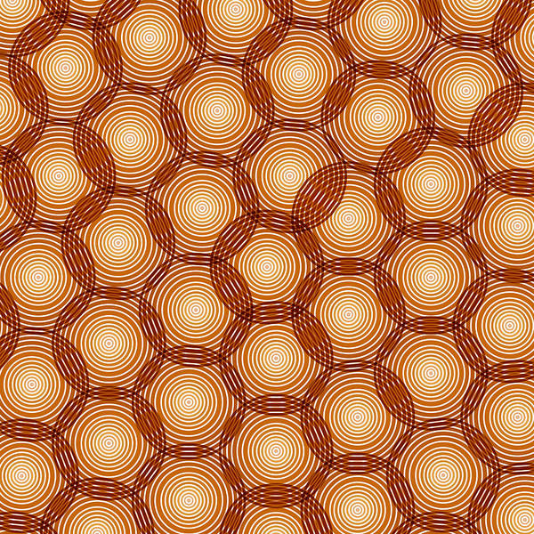 Yellow Ochre Painting - Circles Abstract by Frank Tschakert