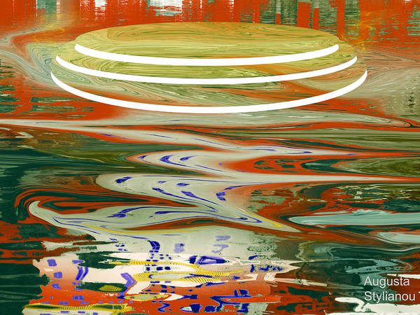 Digital Art - Circles And Waves by Augusta Stylianou