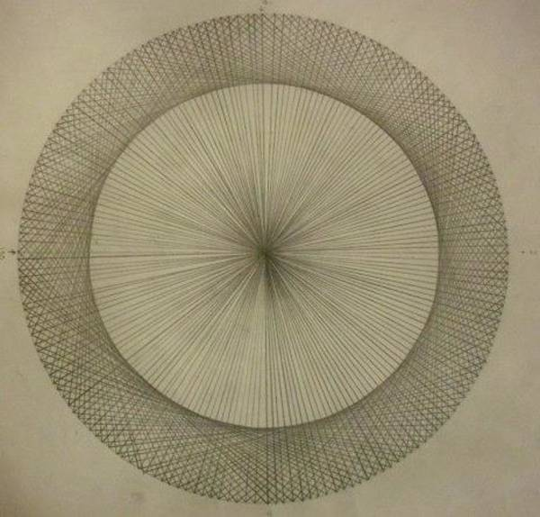 Wall Art - Drawing - Circles Don't Exist Two Degree Frequency by Jason Padgett