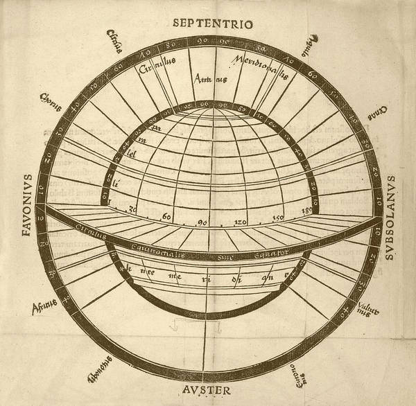 Cartography Photograph - Circles On Earth Globe by Library Of Congress