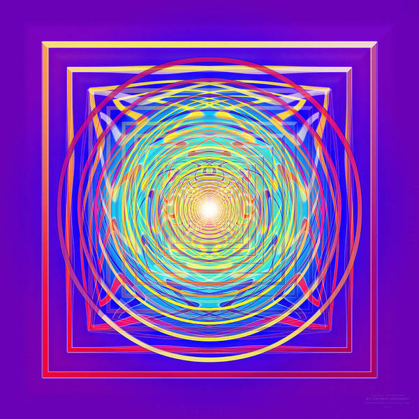 Digital Art - Circling The Square by Derek Gedney