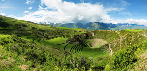 Cusco Photograph - Circular Inca Terraces Of Moray by Panoramic Images