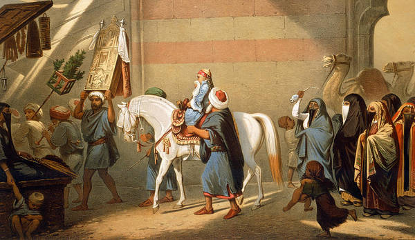 Arab Horse Painting - Circumcision by French School
