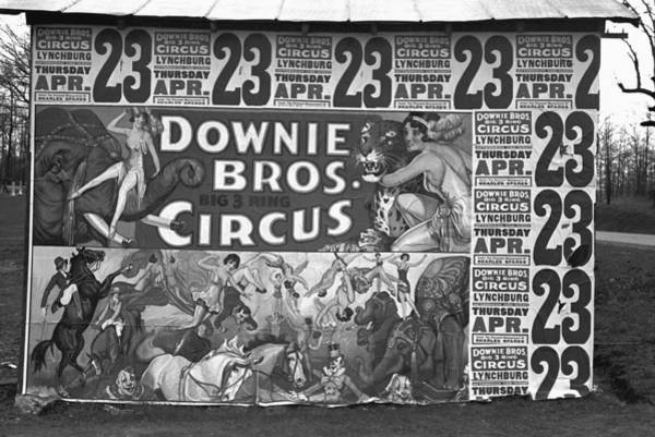 Photograph - Circus Advertisement, 1936 by Granger