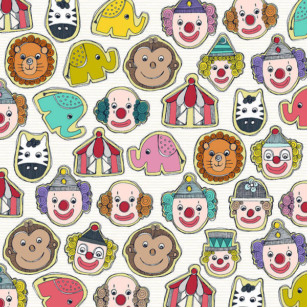 Wall Art - Painting - Circus Cookies Multi by MGL Meiklejohn Graphics Licensing