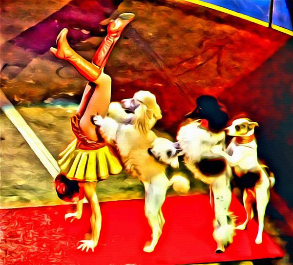 Photograph - Circus Dog Act by Alice Gipson