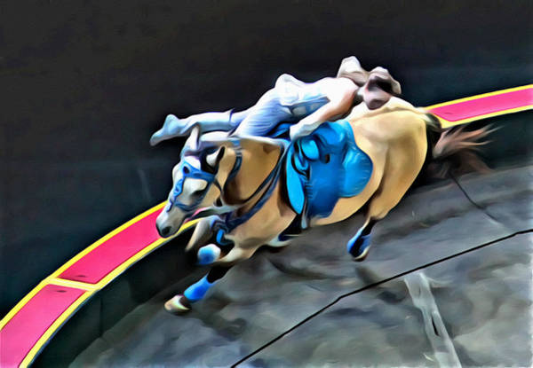 Photograph - Circus Horse Trickster by Alice Gipson