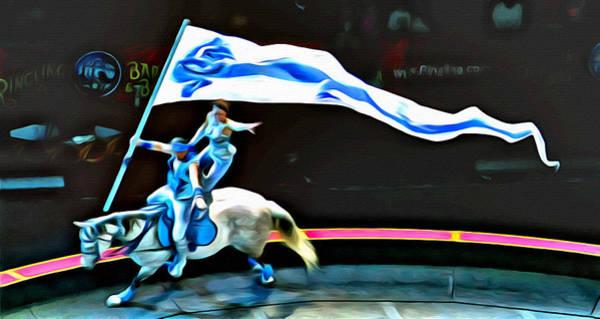 Photograph - Circus Horseback Act by Alice Gipson