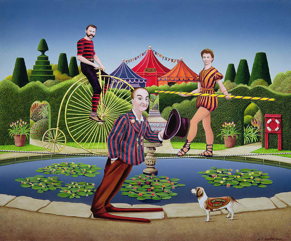 Circus Clown Painting - Circus Performers by Anthony Southcombe