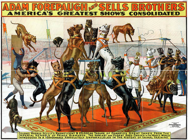 Wall Art - Painting - Circus Poster, 1898, Poster Advertising by Granger