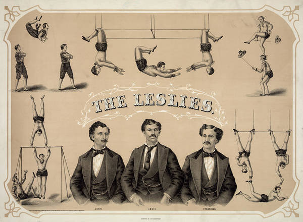 Trapeze Painting - Circus Poster, C1873 by Granger