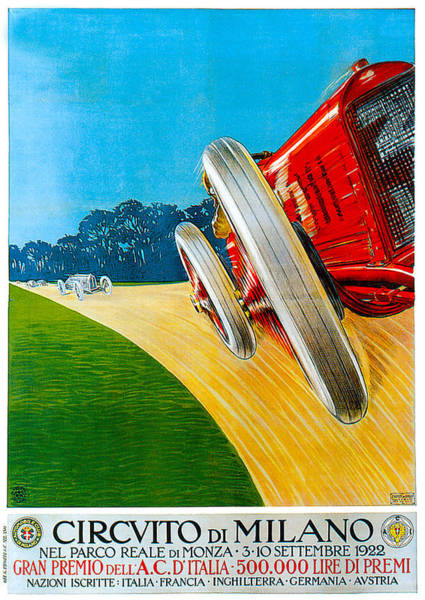 Photograph - Circvito Di Milano by Vintage Automobile Ads and Posters