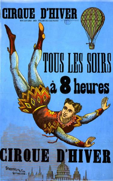 Digital Art - Cirque Dehiver - Circus Diver by Lesa Fine