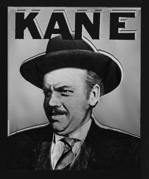 Painting - Citizen Kane Orson Welles Campaign Poster B And W by Tony Rubino