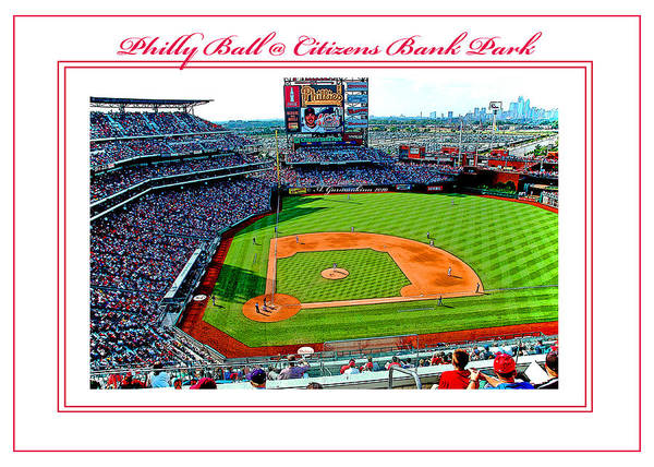 Scoreboard Digital Art - Citizens Bank Park Phillies Baseball Poster Image by A Gurmankin