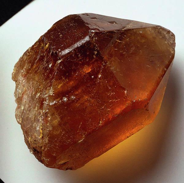 Quartz Photograph - Citrine (quartz) Crystal by Dorling Kindersley/uig