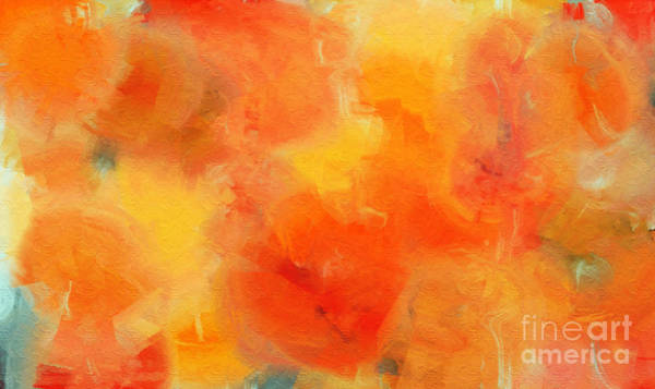 Digital Art - Citrus Passion - Abstract - Digital Painting by Andee Design