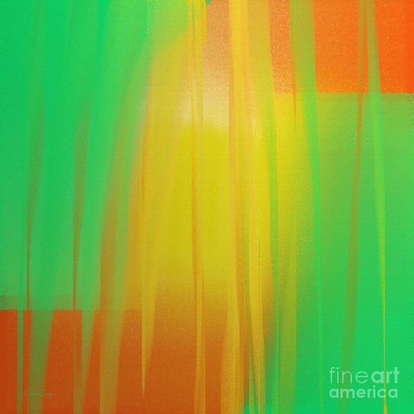 Slice Digital Art - Citrus Slices Abstract 1 by Andee Design