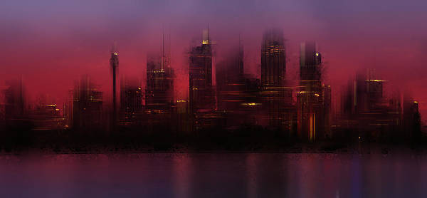 Compose Wall Art - Photograph - City-art Sydney Skyline by Melanie Viola