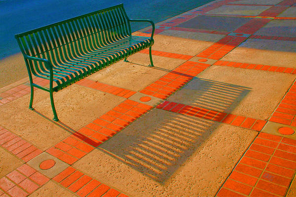 Photograph - City Bench Still Life by Ben and Raisa Gertsberg