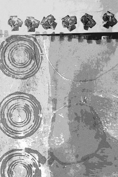 Grayscale Digital Art - City Block Abstract by Nancy Merkle