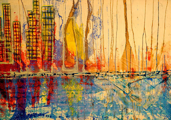 City By The Sea Art Print
