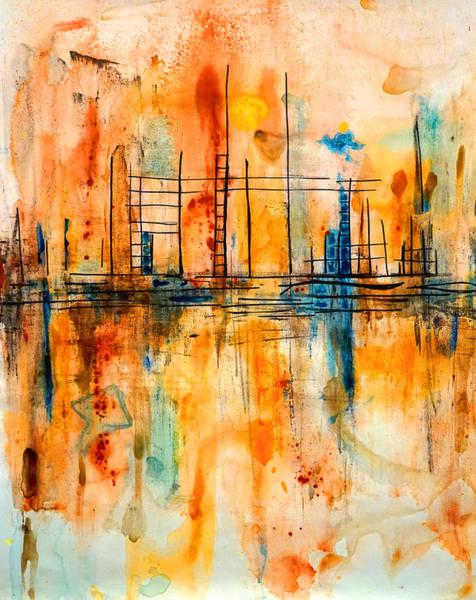Painting - City By The Sea IIi by Giorgio Tuscani
