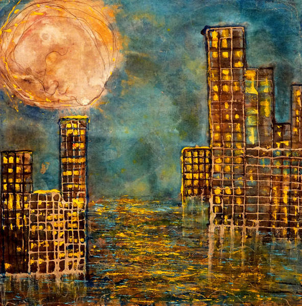 Painting - City By The Sea Of Love  by Giorgio Tuscani
