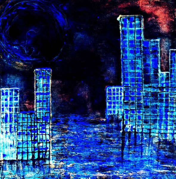 Digital Art - City By The Sea Of Love II by Giorgio Tuscani