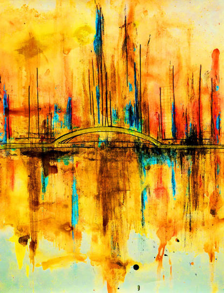 Painting - City By The Sea V by Giorgio Tuscani