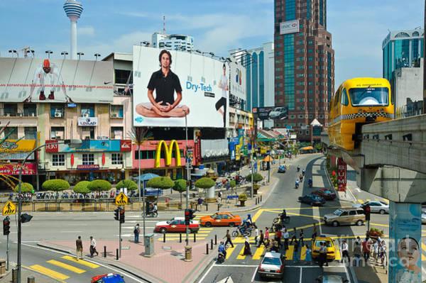 City Centre Scene - Kuala Lumpur - Malaysia Art Print