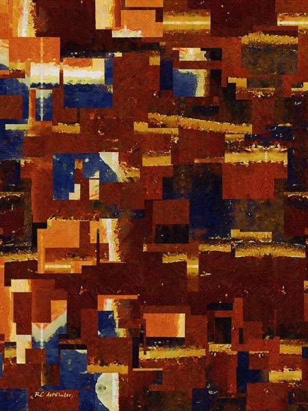 Painting - City Cutout by RC DeWinter