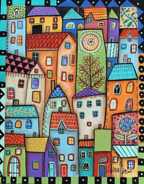 Wall Art - Painting - City Digs by Karla Gerard