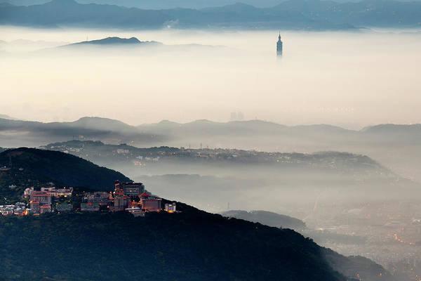 Taiwan Photograph - City Fog by Chenning.sung @ Taiwan