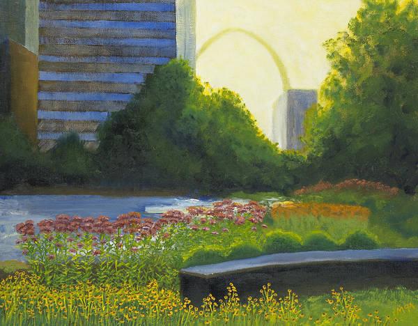 St Louis Arch Painting - City Garden St. Louis by Garry McMichael